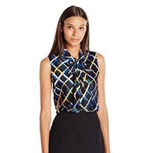 Nine West Silk Elegant Sleeveless V Tie Camisole